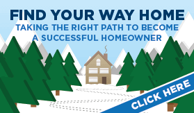 Goes to page displaying infographic on a step by step walk-through for the home buying process