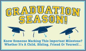 Goes to page displaying infographic on how not to let a graduation party break your budget