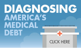 Goes to page displaying infographic on how medical debt impacts Americans.